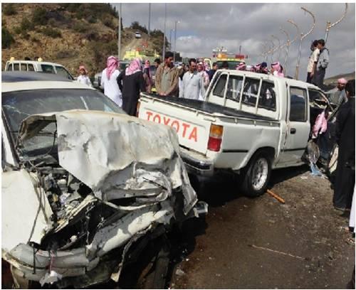 وفاة وإصابة 7 في حادث مروري بالقنفذة