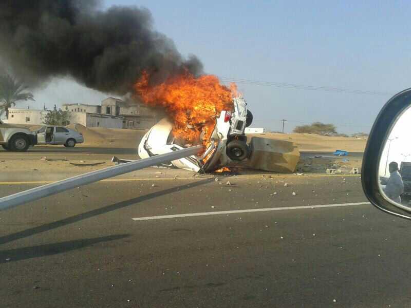 مصرع شقيق لاعب سعودي متفحماً داخل سيارته