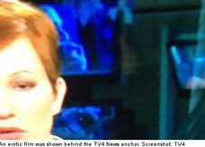 قناة سويدية تبث لقطات من فيلم إباحي أثناء نشرة الأخبار