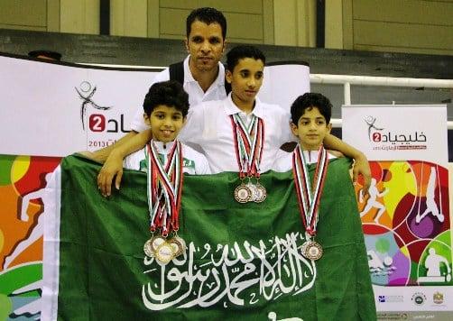 «23» ميدالية للمنتخب المدرسي السعودي بخليجياد2