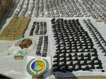 حرس الحدود يحبط تهريب «608» مسدساً و«39» ألف ذخيرة حية