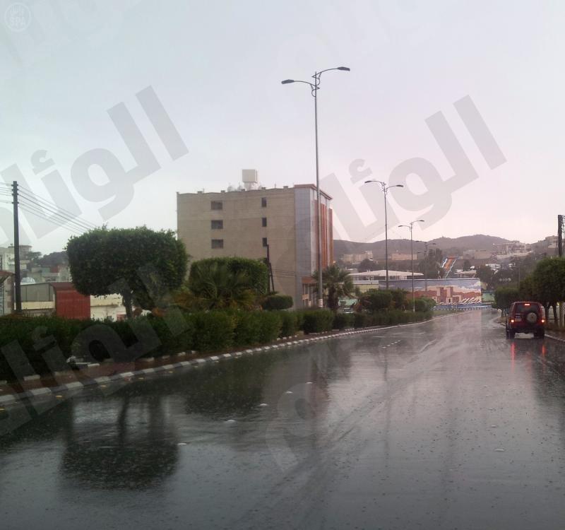 أمطار غزيرة على منطقة الباحة
