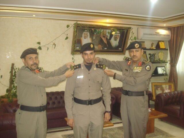 مدير شرطة الطائف يقلد الثبيتي رتبته الجديدة