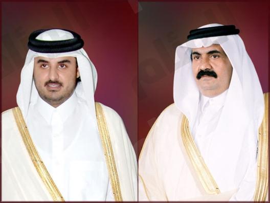 خادم الحرمين الشريفين وسمو ولي العهد يهنئان الشيخ تميم