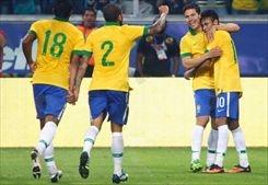 فوز البرازيل على فرنسا بثلاثية وديا