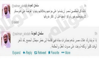 العودة: إذا لم يتدارك عقلاء مصر بلدهم فالخطر سيطال الجميع