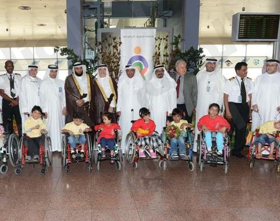 «أنامل مبدعة» معرض للأطفال المعوقين بمطار الملك عبد العزيز بجدة
