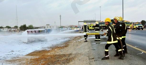إصابة ستة أشخاص في حادث الصهريج والهوندا جنوب جدة