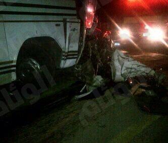 وفاة وإصابتين بسبب حادث على طريق الرس