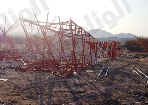 تعثر إنشاء برج قرية أبو ضباع..والأهالي يناشدون مسؤولي الاتصالات