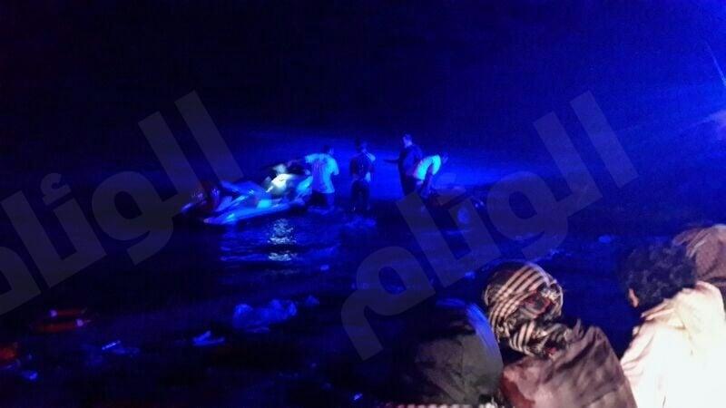 بالصور..حرس الحدود ينقد «14» متسلل من الغرق بمكة