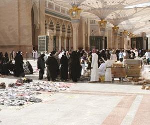 إنشاء مظلات مؤقتة للبائعين الجائلين بالمنطقة المركزية بالمسجد النبوي