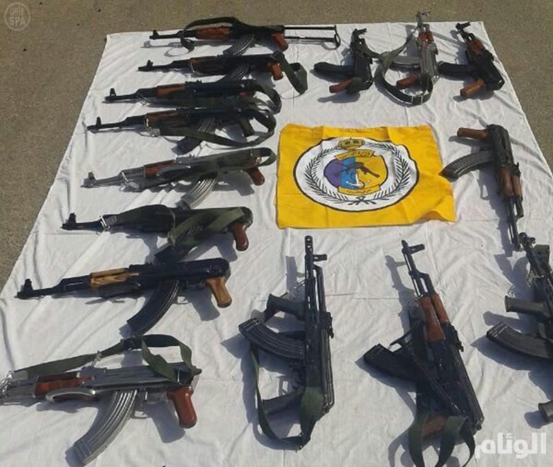 حرس حدود جازان يضبط 247 قطعة سلاح و 764 كيلو حشيش و 15 الف متسلل بـ 45 يوم