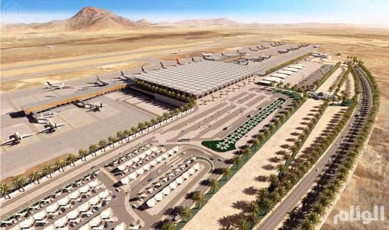 بالصور: تواصل أعمال الإنشاء والتطوير بمطار الأميرمحمد بن عبدالعزيز بالمدينة