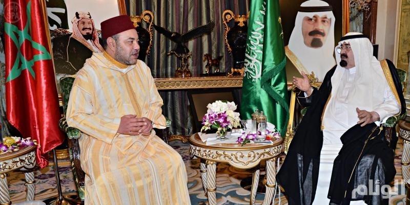 خادم الحرمين يستقبل ملك المغرب في قصره بجدة
