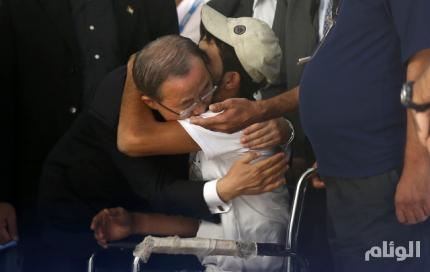 في حرب غزة .. بان جي مون: اسرائيل قتلت فلسطينيين احتموا بمنشآت الأمم المتحدة