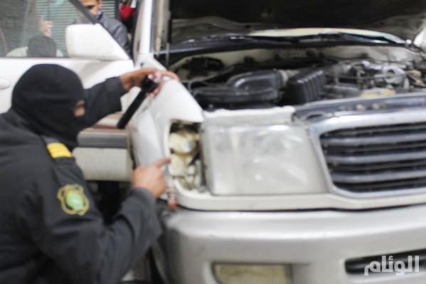 بالصور : إحباط تهريب أكثر من مليون حبة «كبتاحون» مُخبأة بالأجزاء الداخلية لسيارة