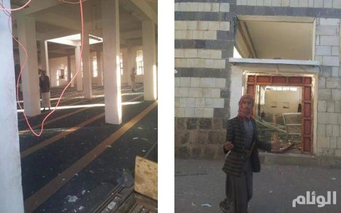بالصور .. الحوثيون يفجرون دار القرآن الكريم في أرحب