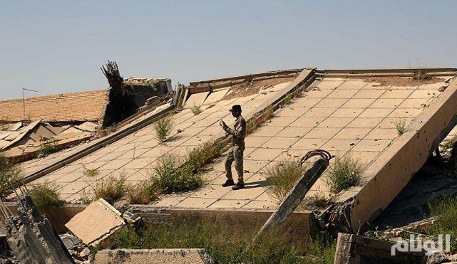 بالصور.. تدمير قبر صدام حسين جراء القتال بالقرب من تكريت