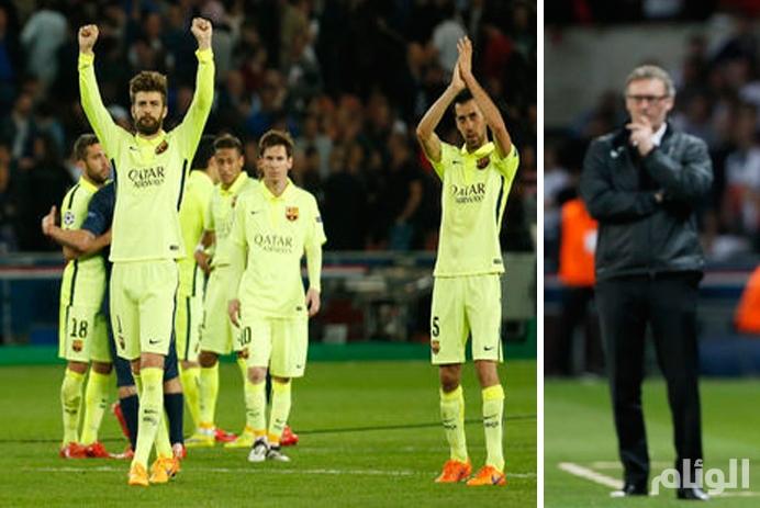 """مدرب """"سان جيرمان"""" يتحسر على الغائبين بعد هزيمة قاسية أمام برشلونة"""