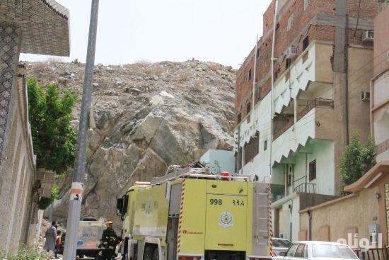 اختناق «4» أشخاص في حريق منزل بشارع الحج بمكة
