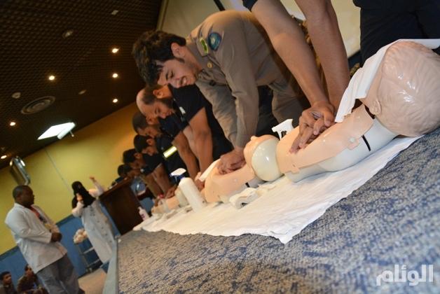 تدريب «1000» من منسوبي مدني مكة على الإنعاش القلبي