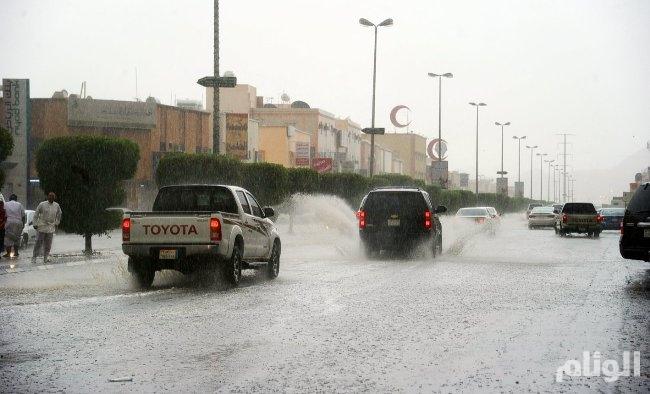 الدفاع المدني يحذر من أمطار رعدية على الباحة