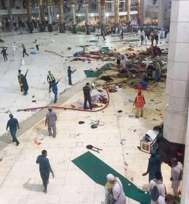 مصدر مسؤول: مناسك الحج ستجري كالمعتاد بعد سقوط رافعة بالحرم المكي