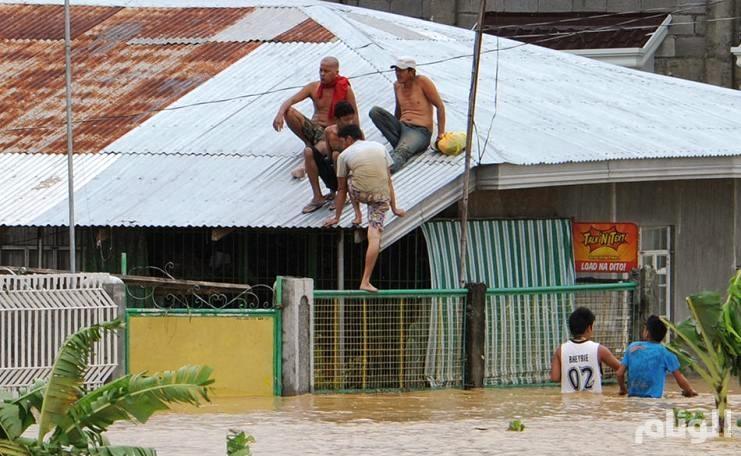 بالصور..ارتفاع حصيلة ضحايا إعصار الفلبين إلى «14» قتيلاً