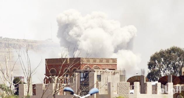 طيران التحالف العربي يقصف مواقع للمتمردين في صنعاء وتعز