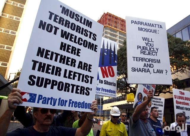 اشتباكات بين مؤيدين ومناهضين لبناء مسجد في أستراليا
