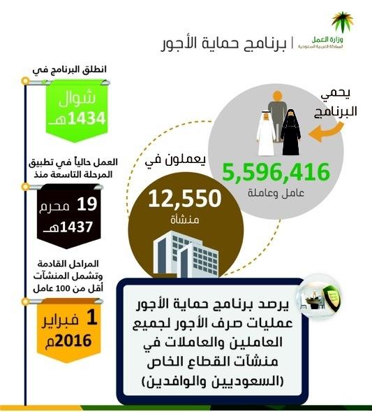 أجور «5.6» مليون عامل في 12 ألف منشأة تدخل حماية الأجور