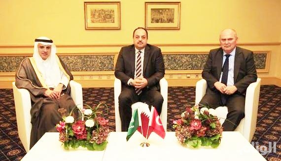 وزراء خارجية المملكة وقطر وتركيا يجتمعون بالائتلاف الوطني السوري