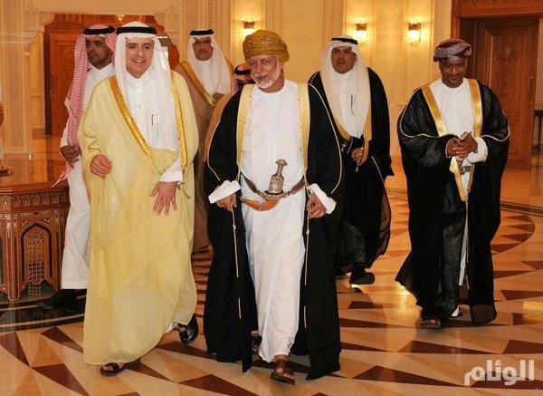 الجبير يلتقي عدداً من كبار المسؤولين العمانيين لبحث التعاون بين البلدين