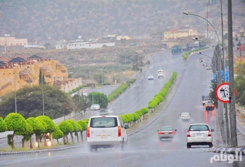 هطول أمطار رعدية في عسير و جازان والباحة