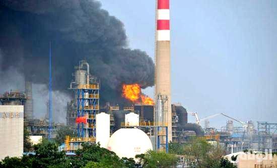 انفجار في مصفاة نفطية في الصين