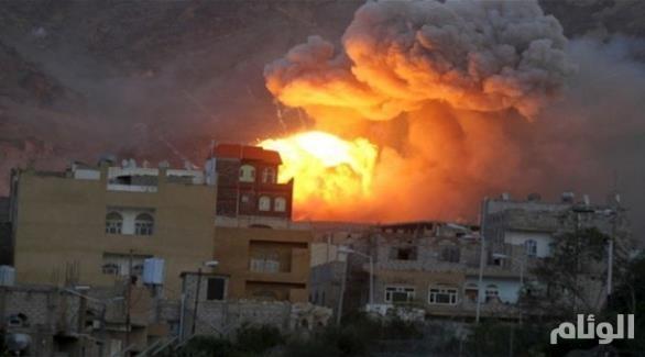 طائرات التحالف العربي تقصف الحوثيين وقوات صالح في تعز وصنعاء