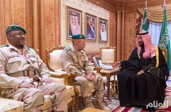 ولي ولي العهد يبحث مع قائد الأركان العامة الموريتاني مجالات التعاون المشتركة