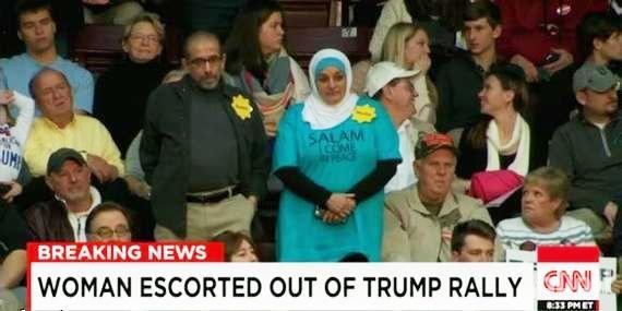 ترامب يطرد «روز حامد» من تجمع انتخابي بولاية ساوث كارولاينا