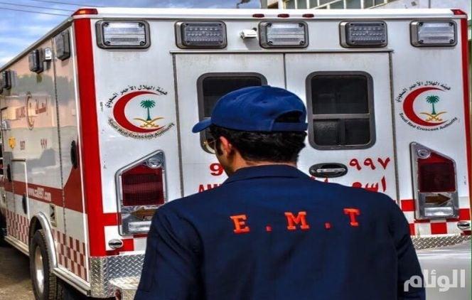 الهلال الأحمر يباشر حالة سقوط بمدرسة بنات بأبو عريش