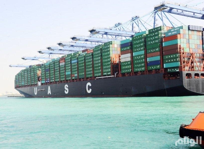 ميناء جدة الإسلامي يستقبل «النفود» أكبر سفن نقل الحاويات في العالم
