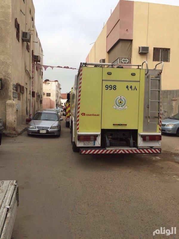 وفاة «5» أشخاص اختناقاً في حريق بـجدة