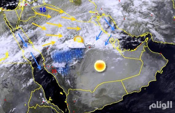 حالة مطرية أكثر قوة متوقعة منتصف الأسبوع المقبل على السعودية