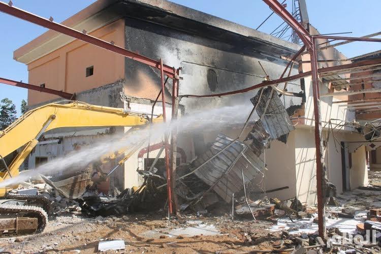 مدني المدينة يسيطر على حريق بقصر أفراح بينبع