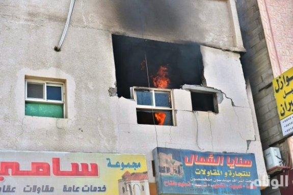 بالصور.. الدفاع المدني يسيطر على حريق شقة في حائل