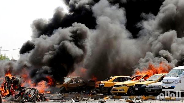 قتلى وجرحى بالعشرات في تفجير انتحاري بوسط بغداد