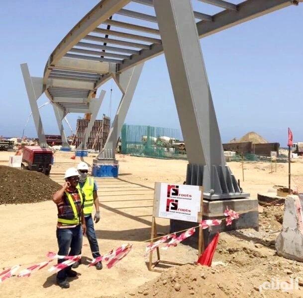 البدء في إنشاء أطول جسر مشاة في السعودية