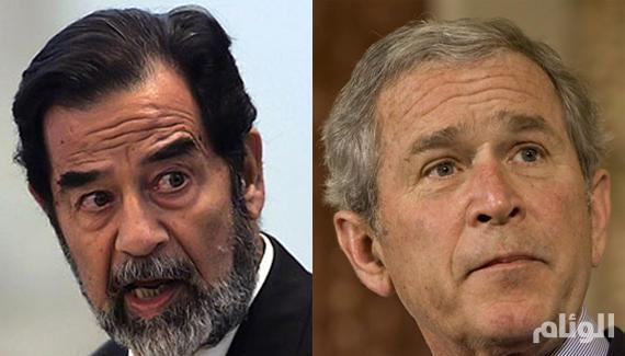 جورج بوش: أنا مقتنع دائماً بأن العالم أفضل حالاً بدون صدام حسين