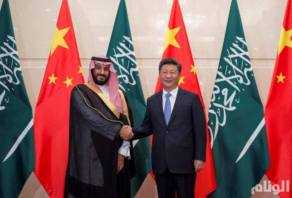 لقاء ولي ولي العهد بالرئيس الصيني