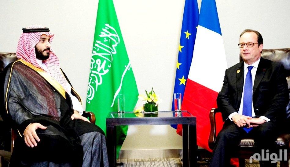 ولي ولي العهد يلتقي الرئيسان الفرنسي والمصري